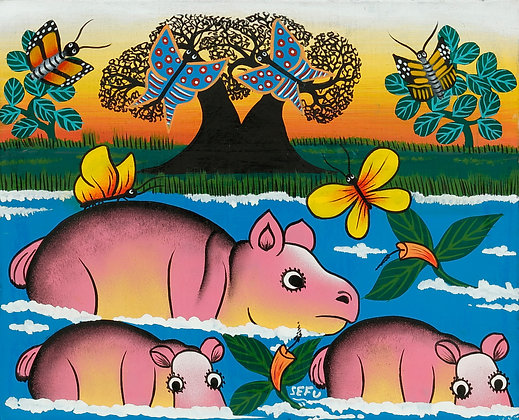Hippo family/Butterfly/Baobab