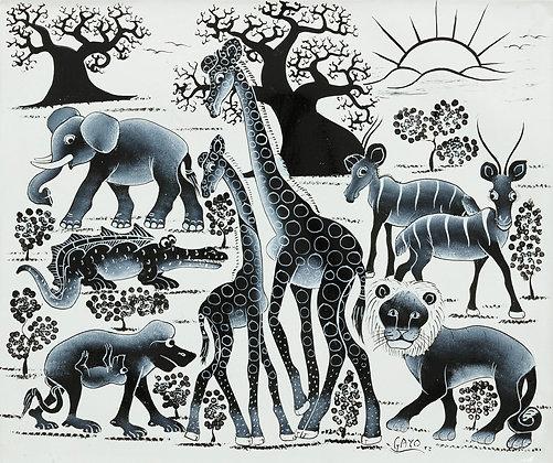 Animals/Baobab/Sunrise