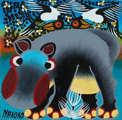 Hippo/Flower/Bird
