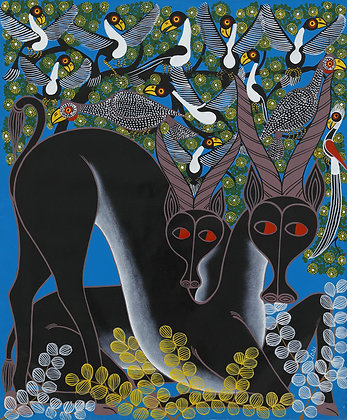 African antelope / Bird