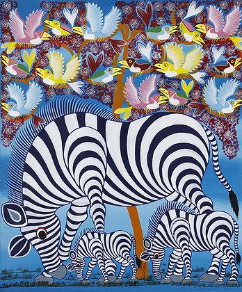 Zebra/Bird