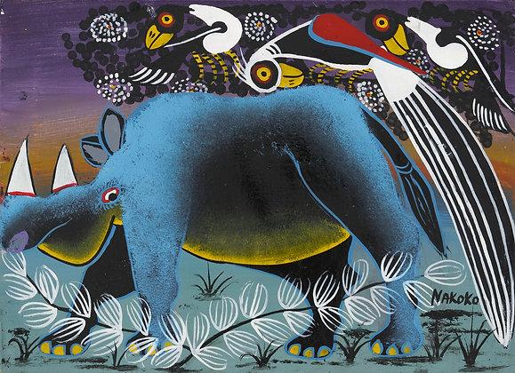 Rhinoceros / Bird