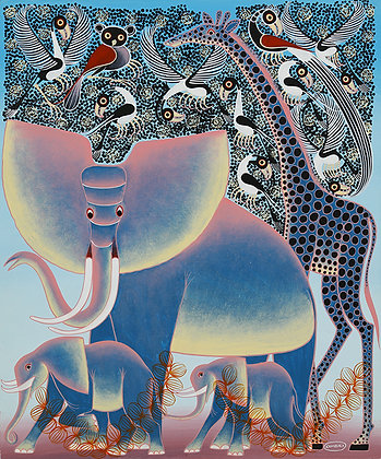 Elephant family/Giraffe