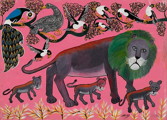 Lion family/Bird