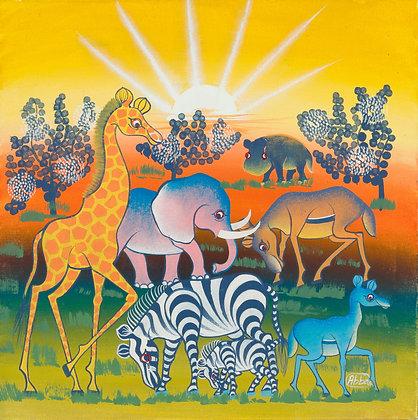 Animals/Sunset