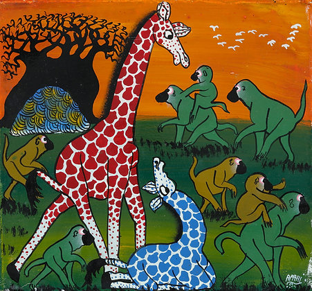Giraffe/Monkey family