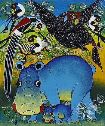 Hippo family/Bird