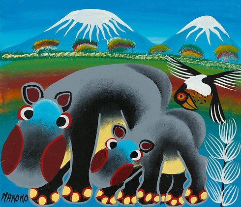 Hippo family/Kilimanjaro