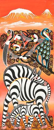 Zebra family/Bird/Kilimanjaro