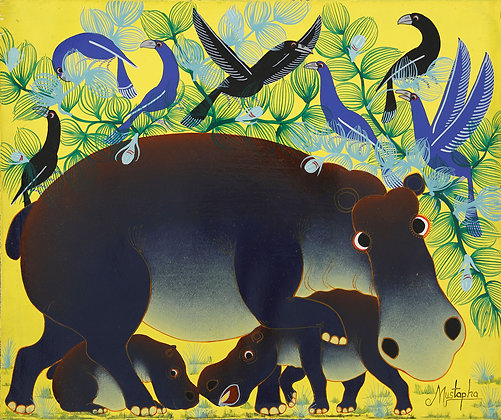 Hippo family / Bird