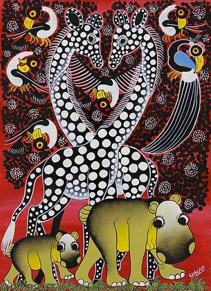 Hippo / Giraffe / Bird