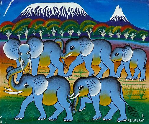 Elephant family/Kilimanjaro