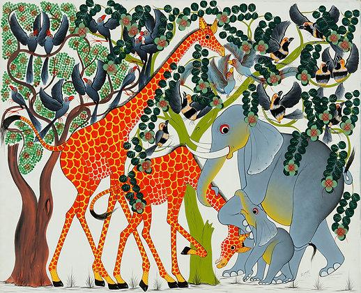 Elephant family/Giraffe family/Bird