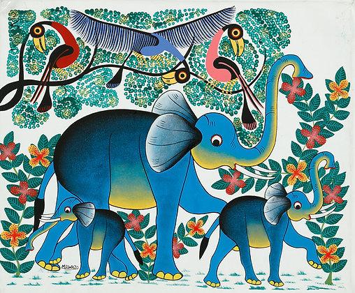 Elephant/Flower/Bird