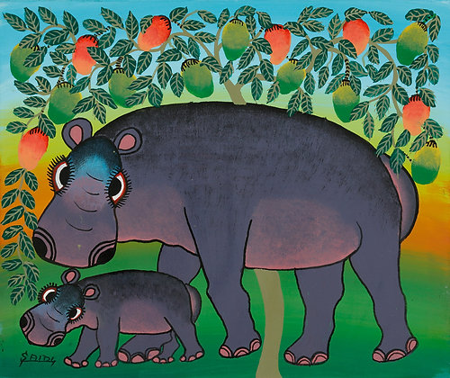Hippo family/Mango tree