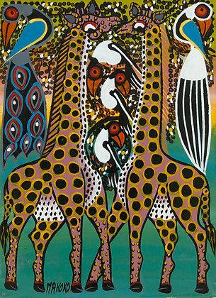 Giraffe/Peacock