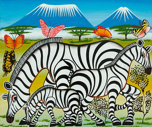 Zebra family/Butterfly/Kilimanjaro