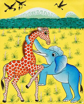 Elephant/Giraffe/Kilimanjaro