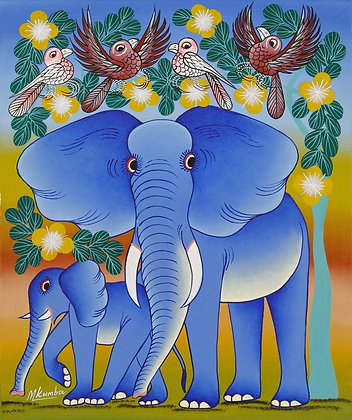 Elephant  / Bird /  Flower