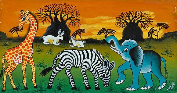 Animals/Sunset/Baobab
