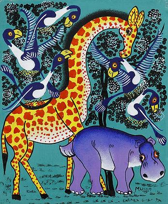 Hippo/Giraffe/Bird