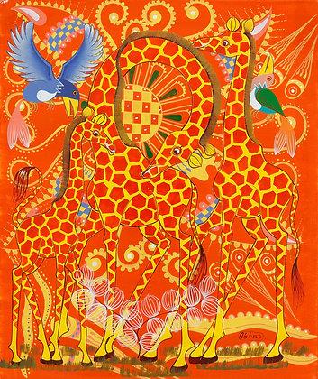 Giraffe/Bird/Paisley