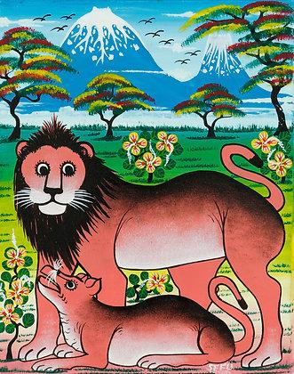 Lion family/Kilimanjaro