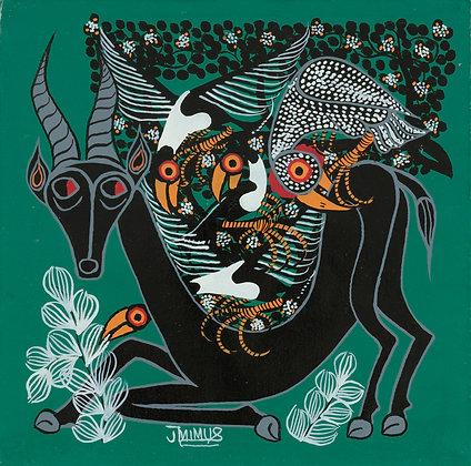 African antelope/Bird