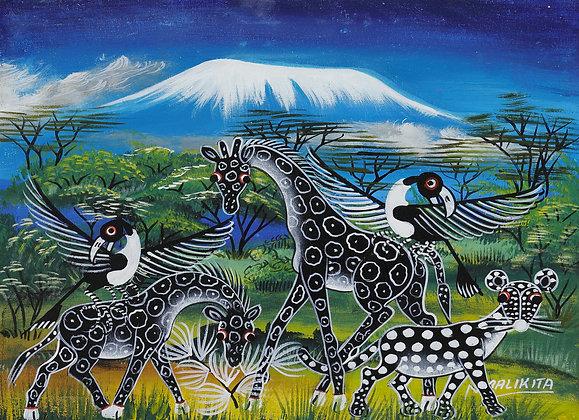 Giraffe / Panther / Bird / Kilimanjaro