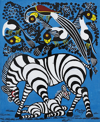 Zebra family/Bird