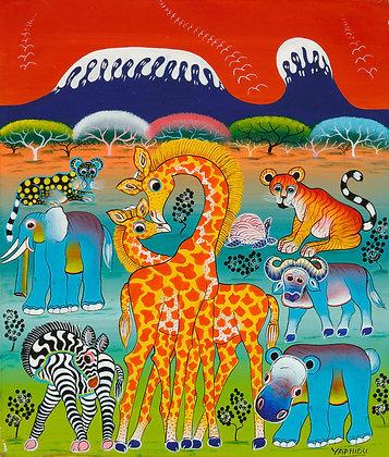 Animals/Kilimanjaro/Sunset