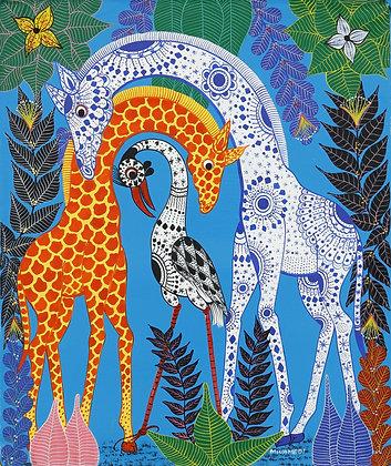 Giraffe / Bird