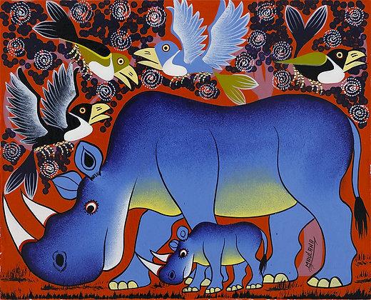 Rhinoceros/Bird