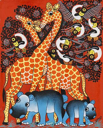 Giraffe / Hippo / Bird