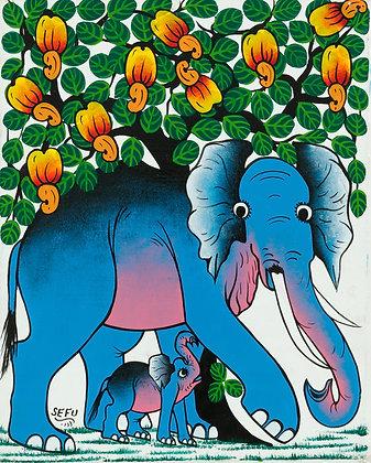 Elephant family/Cashew nuts