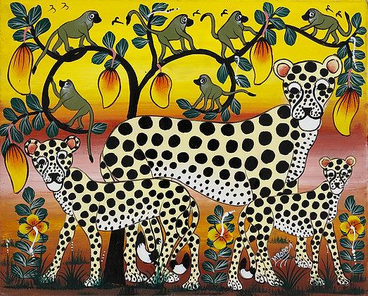 Cheetah family/monkey