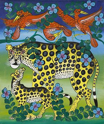 Panther family / Bird / Flower