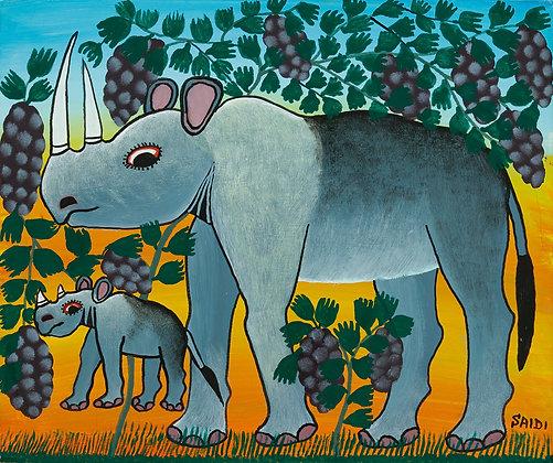 Rhinoceros family/Grape