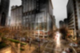 downtown vancouver rain hdr