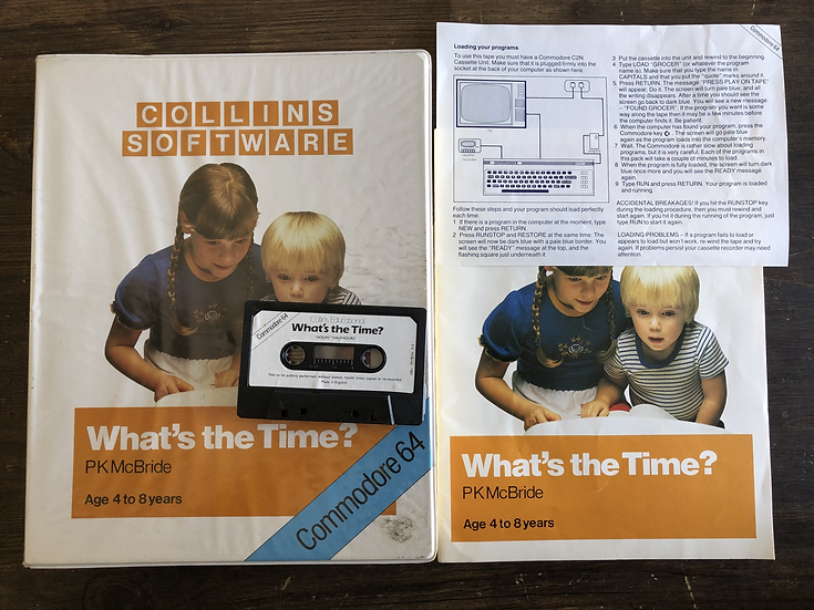 Whats the Time? - C64 Cassette