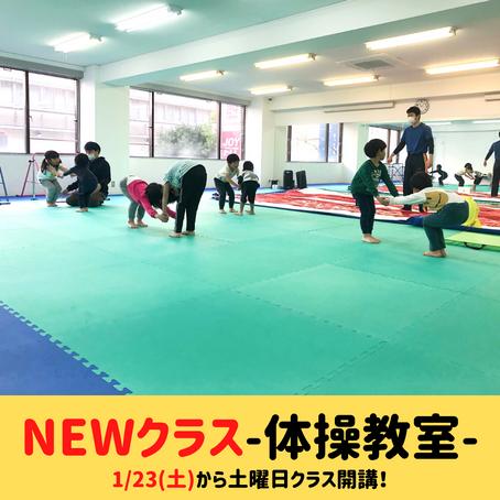 【体操教室🤸♀️土曜日クラス開講のご案内✨】