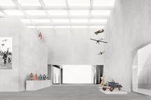 The Toy Museum is a cubic room, which contains a black box, revealing itself to Rua Serpa Pinto as the suspended façade of the old factory.