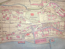 Cadastre Plan of St. Nicolas Hill with the botanic garden and Villa Pury at the centre (c. 1905).