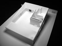 """The house is thought as a """"casa de fresco"""" that overlook the olive grove. Design study model. (photo: atelier José Neves)"""