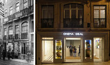 Cinema Ideal was the first cinema in Portugal. The entrance of the cinema in 1930 and today. (photo: Fernando Freire)
