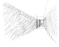 The exhibition brought the darkness of cinema to the museum. (design study sketch: José Neves)