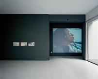 """""""Untitled"""", João Queiroz, 2018, """"Puissance de la parole"""", Jean-Luc Godard, 1968. (photo: André Cepeda)"""