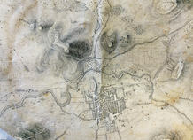 The slaughterhouse, located at the foot of the Hill of S. Vicente, was one of the only existing buildings to the north of the city, together with the Chapel of Nossa Senhora do Ameal and the Lines of Torres Vedras fortifications. Military Plan (19th century).