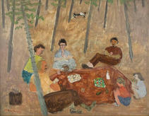 """Milton Avery, """"The Picnic"""", Vermont, 1940, Oil on canvas"""