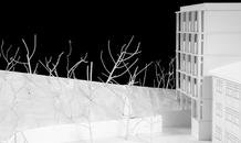 The tower and the woods. Design study model. (photo: Laura Castro Caldas and Paulo Cintra)